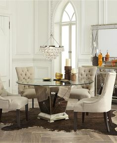 Marais Dining Room Furniture Collection Mirrored Macy S