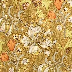 Vintage William Morris Golden Lily British Arts by thewhimsicalbee. , via Etsy.