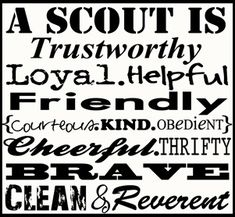 Cub Scout printable, craft