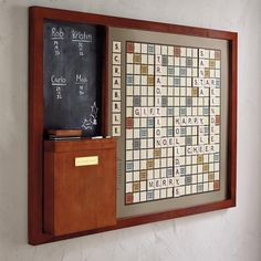 Wall Scrabble Plaque Scrabble Wand, Magnetic Scrabble Board, Luxury Home Decor, Diy Home Decor, Home Music, Game Room Basement, Playroom, Garage Game Rooms, Wood Storage Cabinets