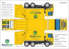 Paper Model Semi Truck   Uw bedrijfsnaam en logo op een originele manier onder de aandacht van ...