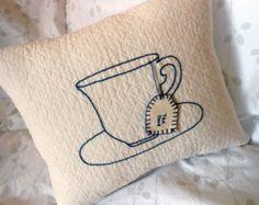 Tea Cup Throw Pillow | WWW.TEAWICK.COM  -  @Teawick