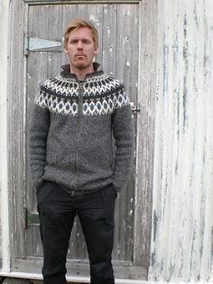 12 Inspiring Icelandic Sweater Patterns Choose from twelve fabulous and gorgeous Icelandic Sweater Patterns. I fell in love with these Lopapeysa on my trip to Iceland. Mens Knit Sweater Pattern, Mens Knitted Cardigan, Knit Jacket, Men Sweater, Knit Sweaters, Fair Isle Knitting Patterns, Sweater Knitting Patterns, Icelandic Sweaters, Nordic Sweater