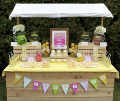 lemonade stand party. My girlie has been begging to have a lemonade stand. This is the perfect alternative.