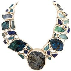 Preowned Huge Fabulous Necklace With Semi Precious Stones (€3.295) ❤ liked on Polyvore featuring jewelry, necklaces, multiple, semi precious necklace, semi precious stone jewellery, semi precious jewelry, druzy necklace and rose necklace