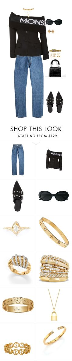 """""""NY fashion week"""" by mollface ❤ liked on Polyvore featuring Vetements, Victoria Beckham, Yves Saint Laurent, Fope, David Yurman, Gucci, Lira, Vita Fede, Dolce&Gabbana and ESPRIT"""