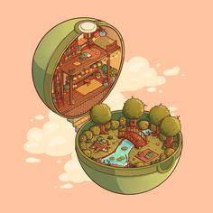 Restaurant Game, Isometric Art, Illustration Artists, Illustrations, Bulbasaur, Sketchbook Inspiration, Cute Pokemon, Cool Drawings, Cute Art