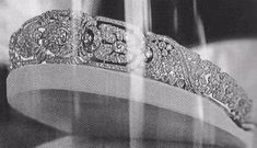 The Gloucester Belle Epoque Diamond Bandeau - c. 1900. Princess Alice's wedding present from her husband, Henry, Duke of Gloucester in 1935 - Some of the diamond motifs can be removed and replaced with emeralds.