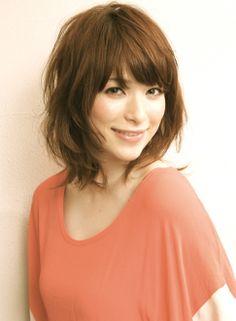 ミディアムレイヤー 【RIMA】 http://beautynavi.woman.excite.co.jp/salon/26131?pint ≪ミディアム・ヘアスタイル・medium・hairstyle・髪形・髪型≫