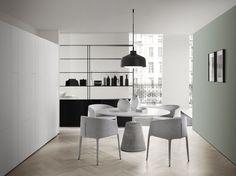Mesa lacada redonda ROCK TABLE by MDF Italia diseño Jean-Marie Massaud