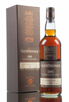A 1995 vintage Scotch whisky, bottled as part of GlenDronach's 12th batch of special single cask releases. Single cask #3806, a Pedro Ximenez sherry puncheon was left to slumber for 19 years before being filled in 2015 at cask strength, 54.5% vol, with an out-turn of 701 bottles.