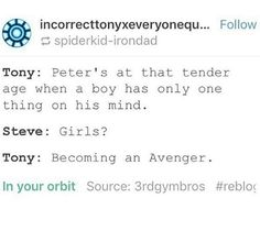 Yep, at least Spidey's got his priorities straight