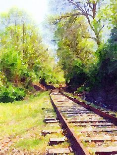 watercolor railroad tracks - Google Search