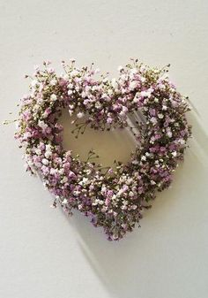Pink baby's breath heart