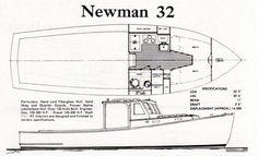 Original Newman 32 Brochure Plan and Profile Drawing
