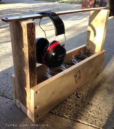 Build this super easy PALLET WOOD TOOL TOTE... in minutes! via Funky Junk Interiors
