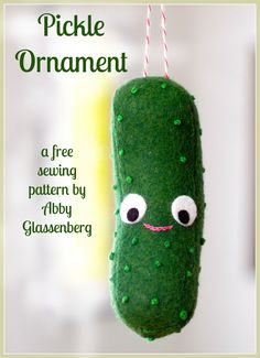 Christmas pickle free pattern.