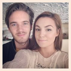 PewDiePie and His Girlfriend Kissing | PewDiePie lives with his girlfriend Marzia - a popular vlogger in her ...