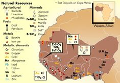 Natural Resources in Africa African Culture, African History, African Empires, Metallica, French West Africa, Iron Ore, Africa Map, Ivory Coast, Natural Resources