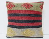 kilim pillow wool cushion cover modern throw pillow ethnic pillow sham decorative couch pillow western throw pillow bohemian cushion 21574