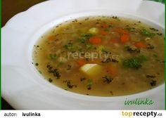 Ovarová polévka s kroupami recept - TopRecepty.cz