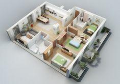 Denah rumah 3 kamar (8)