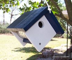 Rustic Birdhouse  Painted Recycled Weathered by PrimitiveWoodworks, $20.00