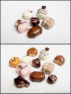 Chocolate Cabochons (Complete) by *Bon-AppetEats on deviantART