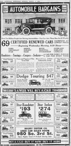 Clipping found in The Courier-Journal in Louisville, Kentucky on Mar Funny Vintage Ads, Vintage Labels, Vintage Signs, Vintage Cars, Antique Cars, Old Advertisements, Retro Advertising, Retro Ads, Advertising Archives