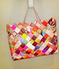 New bag !!!#diy #women#bag #newspaper 📰  #handmade