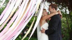 Taylor + Joey Wedding. Pink + gold wedding. Videography: Ashley Batz http://ashleybatz.com  For pictures head to www.100layercake.com + www.theglitterguide.com