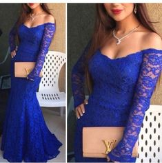 Long Sleeve Lace Prom Dress,Long Prom Dresses,Charming Prom Dresses,Evening…