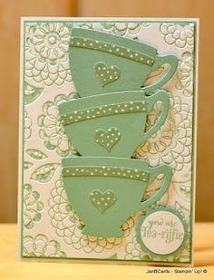 JanB Handmade Cards Atelier: Butterfly Teacups Card Video