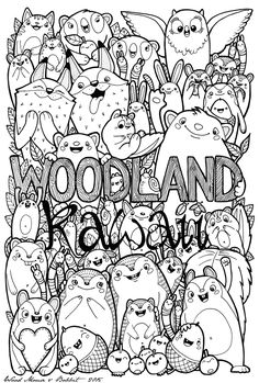 kawaii coloring pages for adults - Google Search