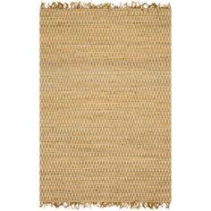 Alexander Home Hand-woven Reed Earth-tone Fringe Rug