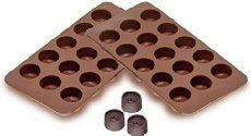 Sorbus® Round Silicone Mold for Chocolate Jelly and Candy - 15-piece Per Mold…