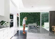 What I mostly love about this image is the green wall outside... Modern Family | © Tara Pearce 09 | Est Magazine