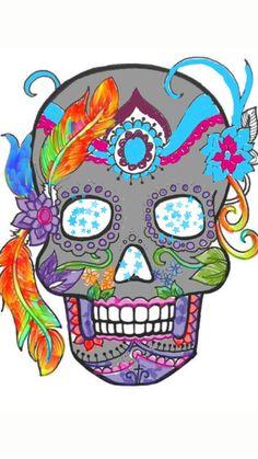 Do I see here the skull of Mexican Santa Muerte?