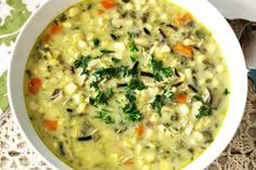 A rich, thick, creamy, hearty soup made with fresh corn and vegetables. It has a slight kick of heat from the peppers. Perfect for a weeknight meal and only 137 calories a serving!