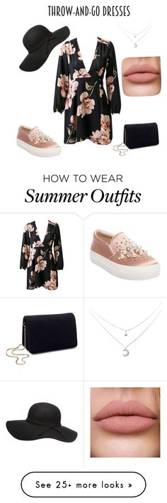 """""""Throw on and go dress outfit"""" by sarahw-4893 on Polyvore featuring Steve Madden and Miss Selfridge"""
