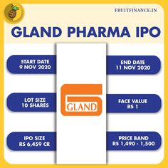 Gland pharma IPO The ₹6,480-crore IPO of Gland Pharma was subscribed 4.5% on the first day of bidding. Gland Pharma will be the first company to be listed on the Indian exchanges with a Chinese promoter. Fosun acquired a 74% stake in Gland Pharma in 2017 for over $1.1 billion. #companies #pharmacy #pharma #bigbull #rakeshjhunjhunwala #warrenbuffett #ipo #initialpublicoffering #glandpharma #stockmarketnews #financialfreedom #financialliteracy #marketnews Rakesh Jhunjhunwala, Initial Public Offering, Warren Buffett, Financial Literacy, Pharmacy, Chinese, Indian, Apothecary, Chinese Language