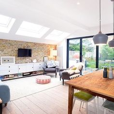 Light, bright and inviting space in London.  Pine floors treated with WOCA…