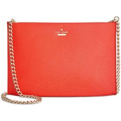 kate spade new york Cameron Street Sima Crossbody (€175) ❤ liked on Polyvore featuring bags, handbags, shoulder bags, prickly pear, leather crossbody, leather handbags, kate spade shoulder bag, kate spade handbag and leather purses