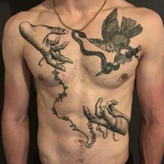 Search inspiration for a Blackwork tattoo. Tattoos 3d, Dope Tattoos, Black Tattoos, Body Art Tattoos, Tattoos For Guys, Sleeve Tattoos, Tatoos, Watch Tattoos, Dark Tattoo