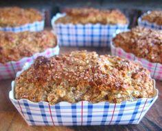 chia, yogurt & applesauce muffins