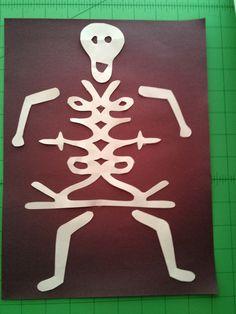 October, Halloween, Third Grade  **Cursive Skeletons