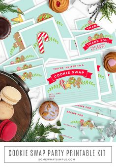 We've got the perfect (and most adorable) Cookie Swap Kit + tips to make your next holiday cookie exchange party a huge success! Cookie Exchange Party, Christmas Cookie Exchange, Chocolate Christmas Cookies, Holiday Cookies, Christmas Party Food, Christmas Holidays, Christmas Stuff, Christmas Ideas, Diy Spring