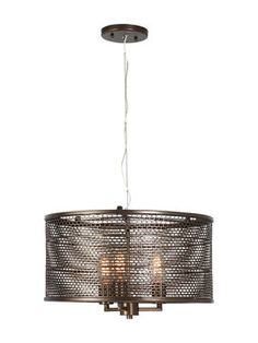 Large Lit-Mesh Test 3-Light Mini Pendant from The Lighting Event: Chandeliers