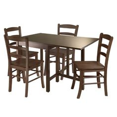 Winsome Lynden 5-Piece Dining Table with 4-Ladder Back Chairs - http://www.furniturendecor.com/winsome-lynden-5-piece-dining-table-with-4-ladder/ - Categories:Dining Room Furniture, Dining Room Sets, Furniture, Home and Kitchen