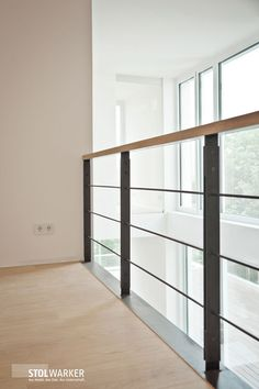 Railing Glass railing Metal railing - Home Decor House Design, Interior Stairs, House, Glass Railing, Staircase Railings, Metal Railings, Stairs Design Modern, Stairs, Balcony Design